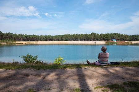 the recreational lake zandenplas in the netherlands
