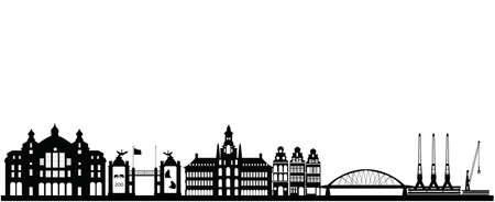 antwerp city skyline in belgium