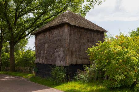 old hay barn in holland Foto de archivo