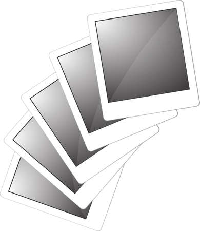 collection of vector photo frames isolated on white
