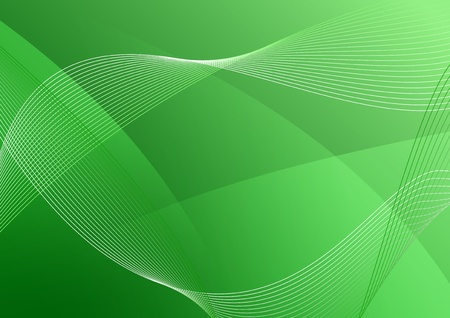 wavy green vector background Illustration