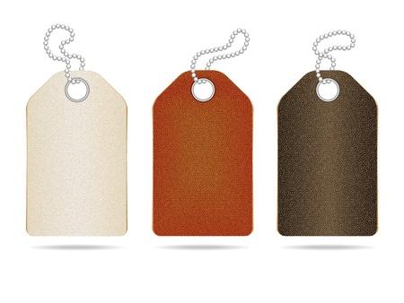Leather labels  Illustration
