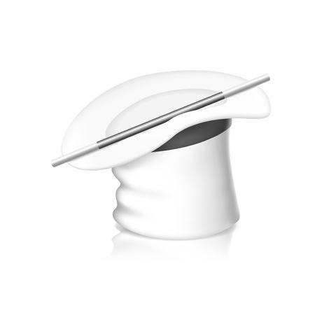 illustration of White magic hat isolated on white