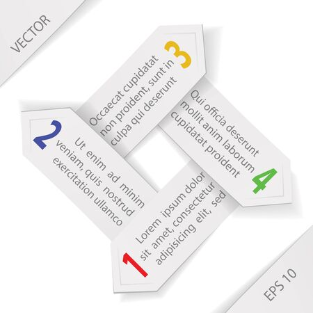 paper arrows infographics template