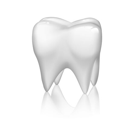 illustration of tooth isolated on white