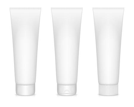 illustration of blanc cream tubes isolated on white
