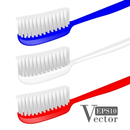 illustration of toothbrushes isolated on white backgound.