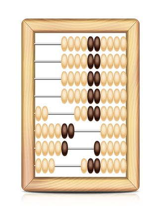 Abacus isolated on white background  Vector illustration EPS10  Иллюстрация