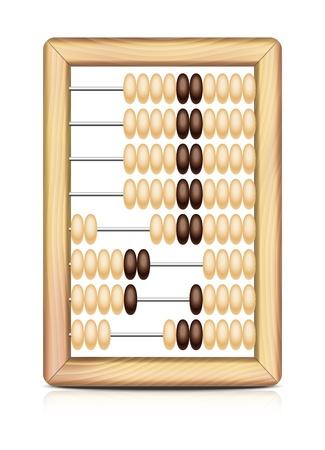 Abacus isolated on white background  Vector illustration EPS10  Illustration