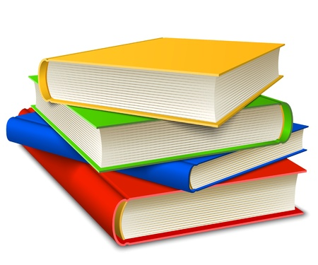 Books Stack isolater on white background  Vector illustration EPS10