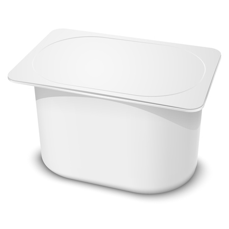 Realistic white blank plastic container  Vector illustration EPS10  Иллюстрация