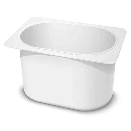 Realistic white blank plastic container  Vector illustration EPS10  Illustration