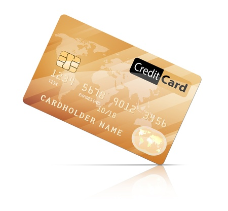 Vector illustration of Credit Card icon isolated on white   EPS10