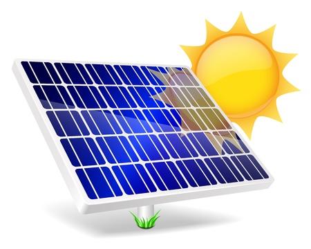 Panneau solaire icône Vector illustration EPS10 Banque d'images - 21729261