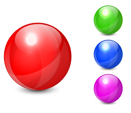 Set of colorful spheres isolated on white background  Vector illustration EPS10 Stock Vector - 21729264