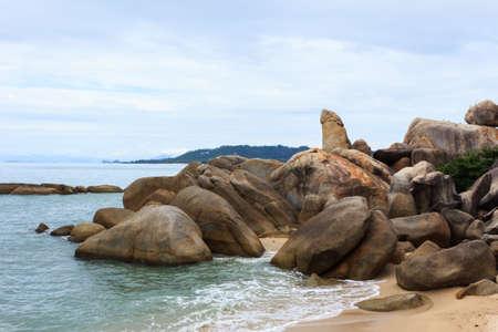 uncommon: The Rock uncommon at samui Island Stock Photo