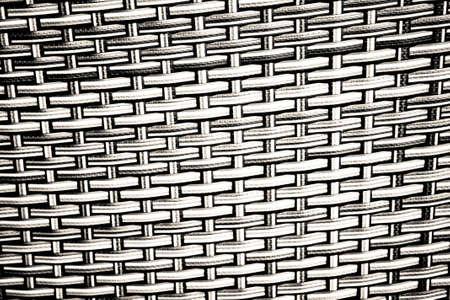 wickerwork: Black and white basket