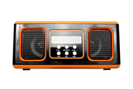 radio of orange colour Stock Photo