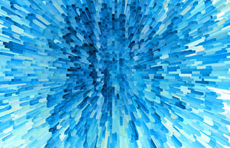 Abstract background of blue blocks photo