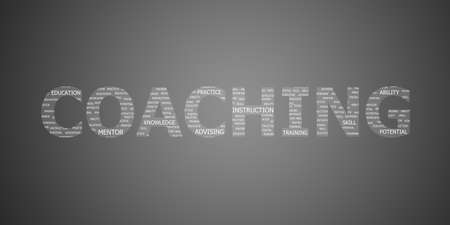 coaching concept word photo