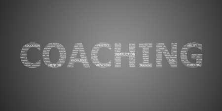 Coaching-Konzept Wort Lizenzfreie Bilder