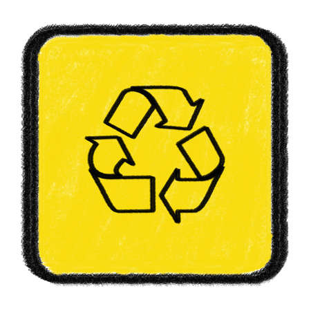 recycle sign drawn with chalk Stock Photo - 15436286