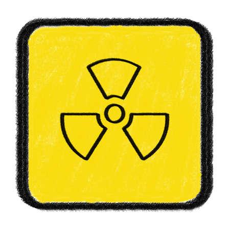 radioactive sign drawn with chalk Stock Photo - 15436281