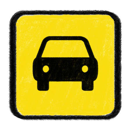car sign drawn with chalk Stock Photo - 15436288