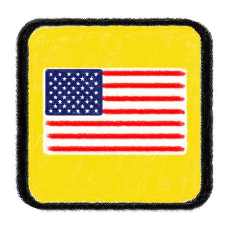 USA  flag drawn with chalk Stock Photo - 15717221