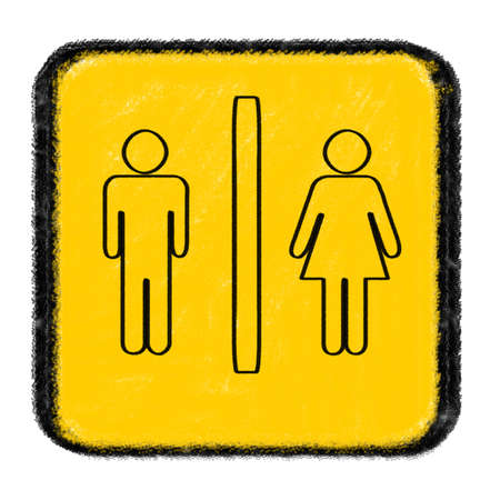 toilet sign drawn with chalk Stock Photo - 15717220