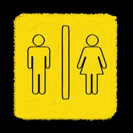 toilet sign drawn with chalk Stock Photo - 15717219