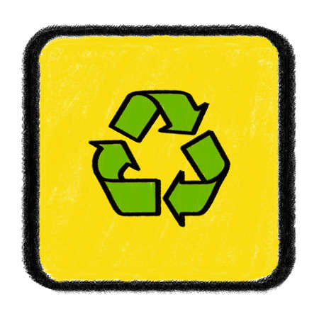 recycle sign drawn with chalk Stock Photo - 15735121