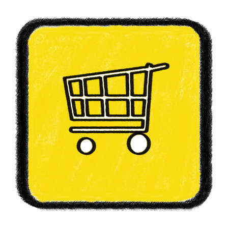 Shopping Cart Icon drawn with chalk Stock Photo - 15735122
