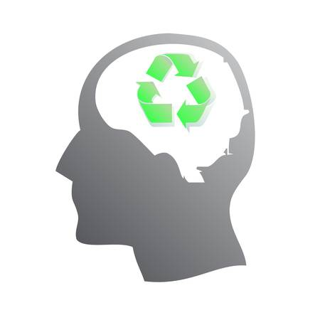 Ecology symbol in human head Vector