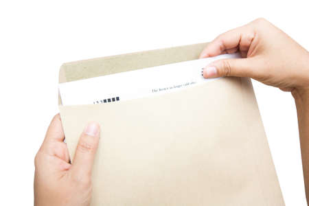 Human hand holding documents folder Stock Photo - 17664607