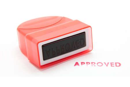 tampon approuv�: timbre approuv� sur le fond blanc