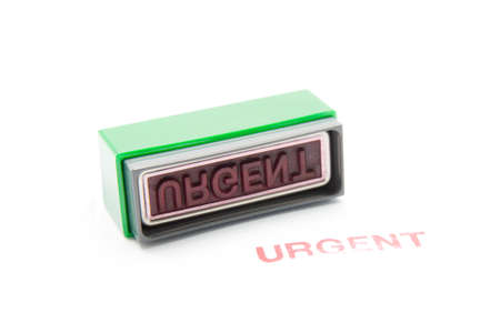 urgent stamp on white background Stock Photo - 17664563