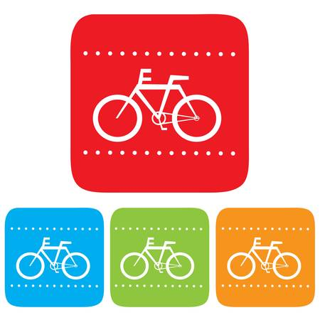Bicycle sign,  icon Vector