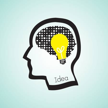 idea concept with human head Stock Vector - 17854929