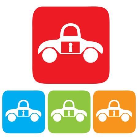 remote lock: Llave del coche icono Vectores