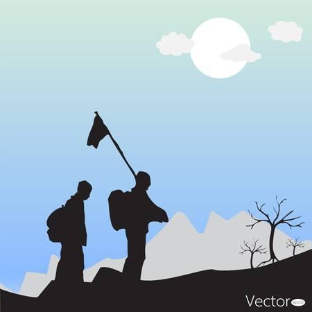 Mountain Climbing  Vector
