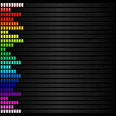 frequency: spectrum colorful music volume