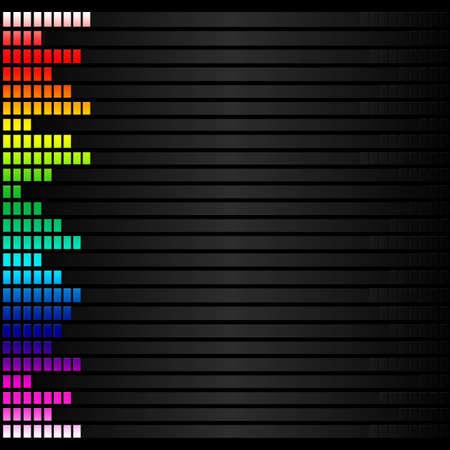 Spektrum bunten Musik-Lautstärke Standard-Bild