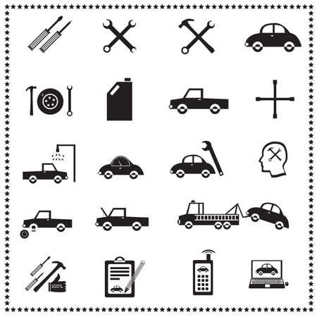 auto repair: Auto Repairs Icons set, Vector illustration Stock Photo