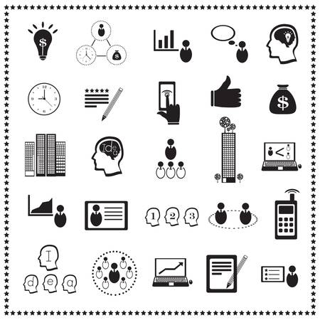 Business icon set: Human resources and management  Stock Vector - 18457831