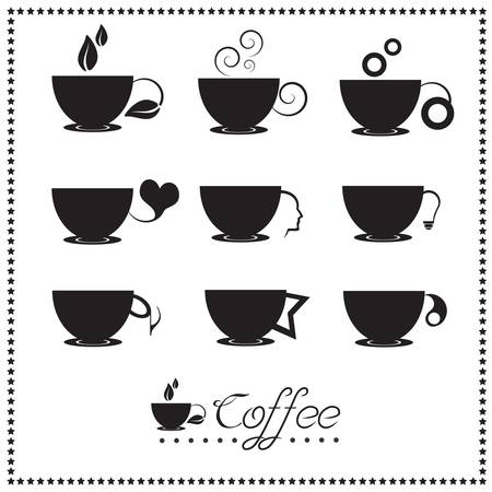 Coffee cup icon set: Tea cups Stock Vector - 18457717