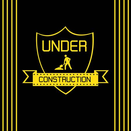Under construction labels Stock Vector - 18457696