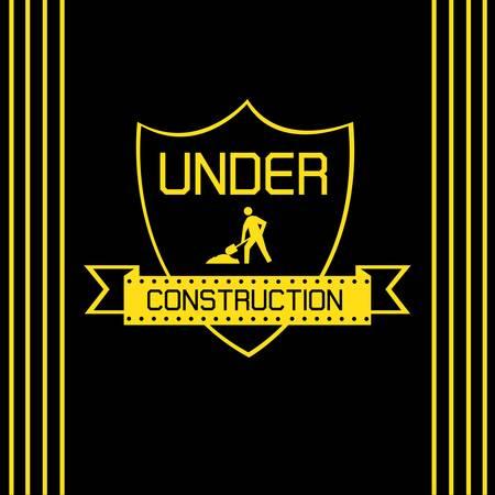 Under construction labels Stock Vector - 18457696