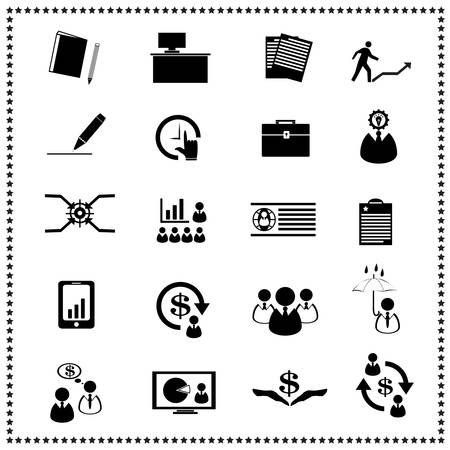 set of Business icons, Vector illustration Stock Vector - 19256016