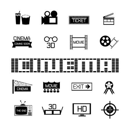 cinematic: set of Cinema and movies icons Illustration